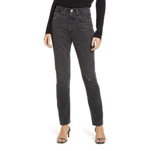 NWT LEVI'S 501® Ripped High Waist Skinny Jeans